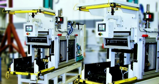Industrial machinery automation for tank press application