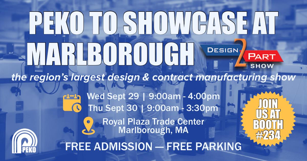 PEKO to Showcase at Marlborough Design-2-Part Show