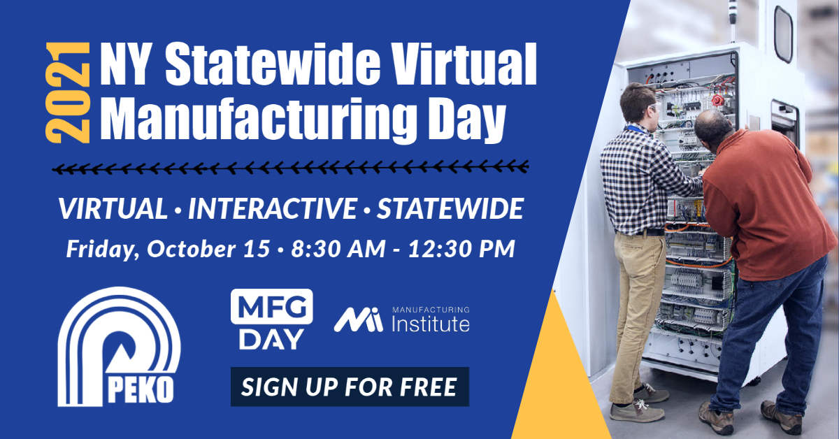 PEKO to participate in 2021 NY Statewide Virtual Manufacturing Day event