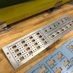 silk screened aluminum control panels