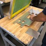 preparing aluminum plate for silk screen