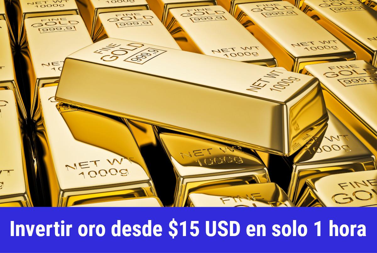 Donde invertir en Oro por menos de $15 USD
