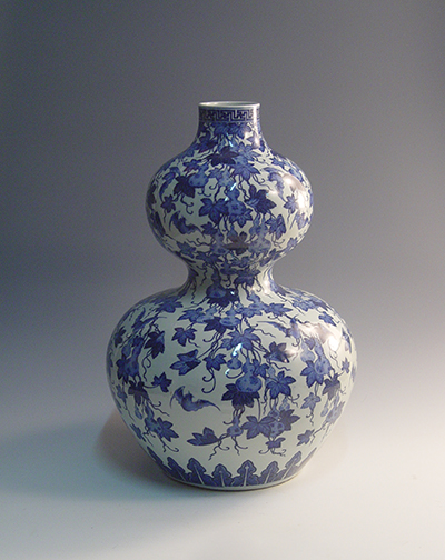 青花福禄纹葫芦瓶 [ Blue and white fulu gourd bottle]