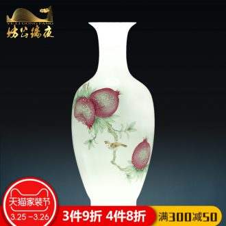 Jingdezhen ceramics hand-painted blue and white porcelain vase flower arranging akiyama agile Chinese style household act the role ofing is tasted new home decoration