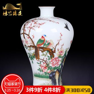 Jingdezhen ceramics furnishing articles antique hand-painted general pot of blue and white porcelain vase sitting room of Chinese style household crafts