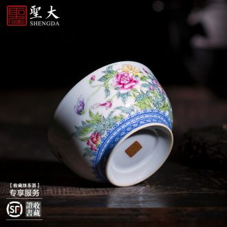 Santa teacups hand-painted ceramic kungfu jingdezhen blue and white longfeng grain tea master cup sample tea cup tea cup