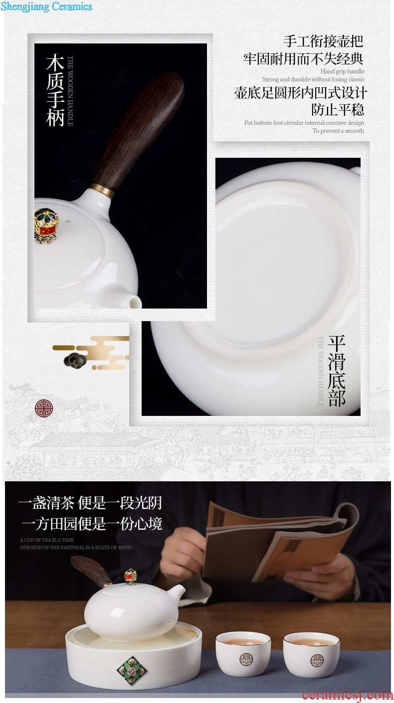 Number, jingdezhen ceramic medium caddy POTS sealed drum