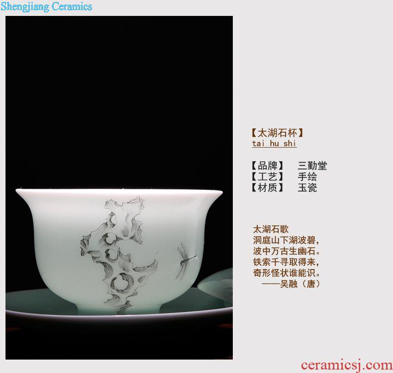 Three frequently hall jingdezhen ceramic tea set tea tea