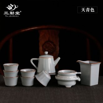 Only three frequently hall tureen jingdezhen your kiln ceramic cups kung fu tea set suits large tea S14005