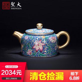 Santa hand-painted porcelain jingdezhen kung fu tea accessories ceramics fair mug of tea sea manual portion evenly cup of tea