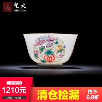 Clearance rule ceramic kung fu tea plum colored enamel ice to flexibly tai xi shi pot of manual of jingdezhen tea service