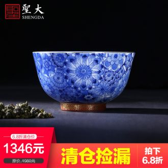 Clearance rule ceramic kung fu tea masters cup hand-painted pastel members sample tea cup single cups of jingdezhen tea service