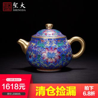 Caddy hand-painted ceramic blue colored enamel bound to branch group crane grain storage POTS all hand fittings of jingdezhen tea service