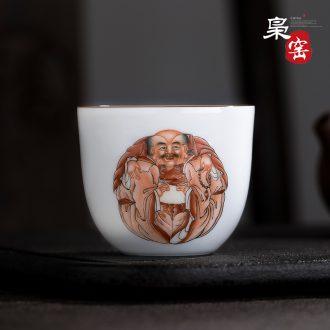 Jingdezhen ceramic hand-painted manual jade snow mud points fair mug of tea is tea tea, kungfu tea accessories