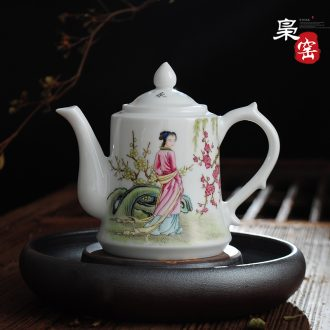 Owl kiln jingdezhen hand-painted blue and white porcelain cups tea archaize individual cup sample tea cup have fish every year