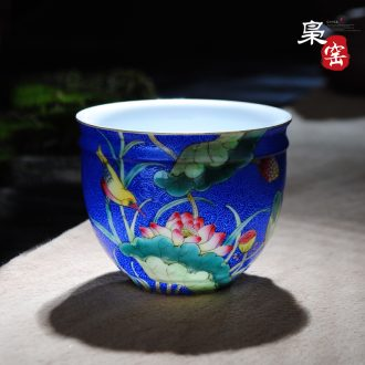 Jingdezhen ceramic manual tureen tea cups from the large bamboo magpie figure only three cup tea bowl