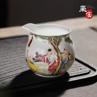 Jingdezhen ceramic tea set large master cup single cup Grilled hand-painted flowers individual sample tea cup flower on kung fu tea cups