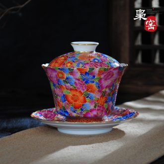 Jingdezhen blue and white snow hand-painted ceramic individual sample tea cup cup cup by hand master cup noggin single cup