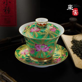 Jingdezhen blue and white ceramic sample tea cup under the glaze Hand draw archaize kung fu tea cups Lotus flower master cup single cup