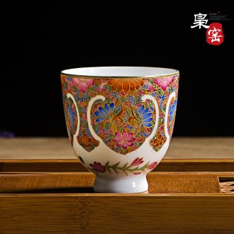 Jingdezhen hand-painted ceramic cups with a blue and white open hall bird sample tea cup personal cup pastel master cup single cup