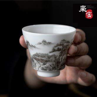 Jingdezhen ceramic kung fu tea sets a pot of two cups of tea set tea service of a complete set of hand-painted cranes teapot teacup