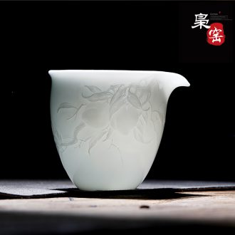 Jingdezhen ceramic tea set kung fu masters cup hand-painted cups asked Buddha sample tea cup single cup hand alum red cup