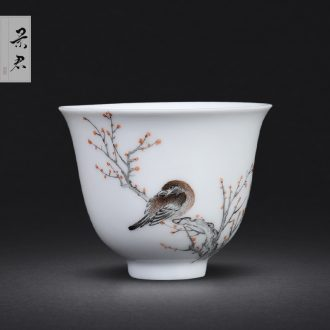 Taiwan iron glaze bag type of jingdezhen ceramics washing slag bucket tea water, after the large tea to wash by hand