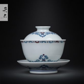 Jingdezhen ceramic hand-painted porcelain sample tea cup flower on kung fu tea master cup single cup porcelain cups