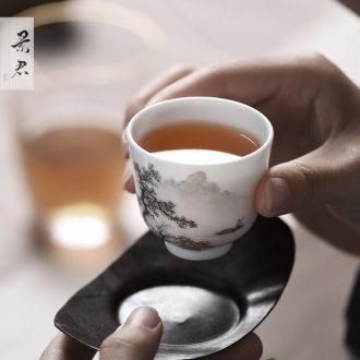 Rouge beauty JingJun jingdezhen ceramics glaze all hand sample tea cup kung fu tea tea masters cup