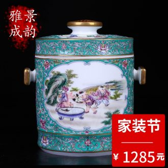 Blue and white porcelain of jingdezhen ceramics art restoring ancient ways the sitting room porch place home decoration vase TV ark