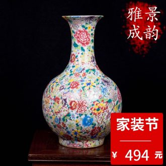 Jingdezhen ceramic handmade porcelain vase TV ark furnishing articles household act the role ofing is tasted the sitting room porch TV ark adornment