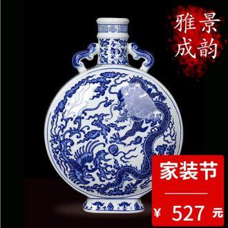 Jingdezhen ceramic handmade maintain bucket color antique painting of flowers and tea pot decorative furnishing articles tea table POTS