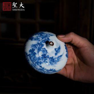 "Santa jingdezhen ceramic incense burner all hand hand draw pastel ""spring of the ancient philosophers make diagram"" teachers censer smoked incense burner"