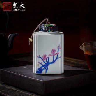 Santa teacups hand-painted ceramic kung fu new colour QingHuan all hand master cup sample tea cup set of jingdezhen tea service