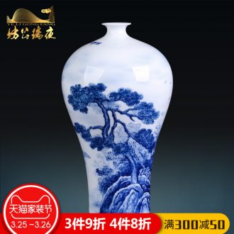Jingdezhen ceramics furnishing articles by hand-painted vases, flower arrangement sitting room of Chinese style household decoration decoration TV ark