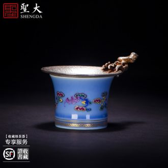 St the ceramic kung fu tea master cup hand-painted new colour compromise flowers for cup sample tea cup jingdezhen tea cup