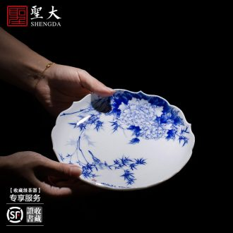 Holy big hand colored enamel ceramic pot bearing a hoard of green space around flowers butterfly tattoo tea all hand of jingdezhen tea service