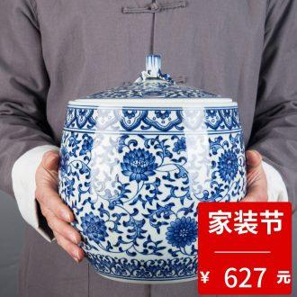 Jingdezhen ceramic porcelain flower vase porch creative flower implement decoration accessories restoring ancient ways furnishing articles furnishing articles household
