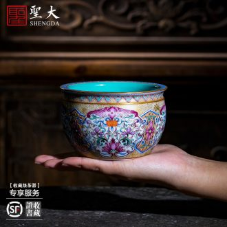 St large blue and white bek owner teacups hand-painted ceramic kungfu cup sample tea cup single cups of jingdezhen tea service