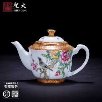 The big buy blue and white bamboo GaiWanCha hand-painted ceramic cover lid all hand jingdezhen kung fu tea accessories