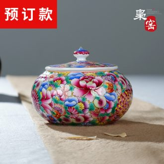 Jingdezhen ceramic masters cup single cup hand-painted colored enamel porcelain tea set flower sample tea cup hand-painted kung fu tea cups