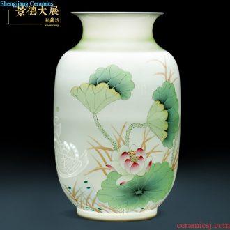 Antique hand-painted blue and white porcelain kiln vase furnishing articles sitting room flower arranging Chinese jingdezhen ceramics decoration