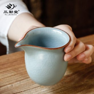 The three frequently tureen ceramic cups tea bowl of jingdezhen tea service hand-painted pastel three cups of large-sized S12009