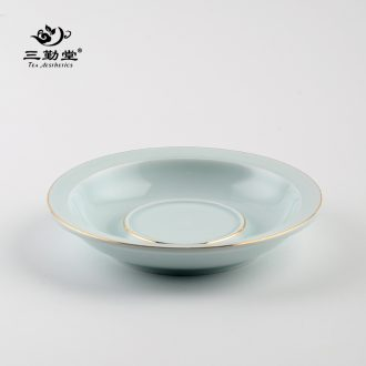 The three frequently your kiln jingdezhen tea set large ceramic fair fair mug cup tea is divided can raise S34001