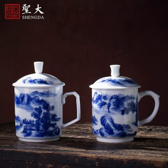 Eight mountain man deep and remote Santa teacups hand-painted ceramic kung fu figure heart cup sample tea cup single cup of jingdezhen tea service
