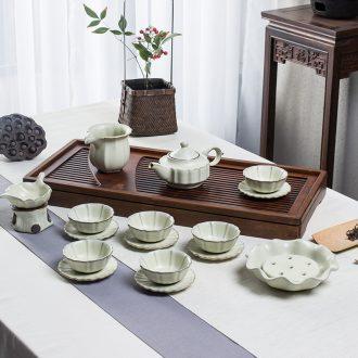 Jingdezhen blue and white porcelain tureen tea cups Ceramic white porcelain bowl with large tea tea bowl three bowl hand grasp pot