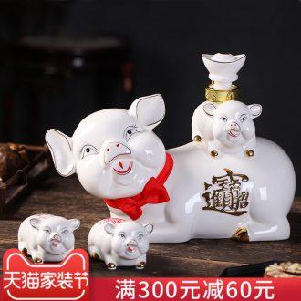 Archaize jars aged 50 kg jingdezhen ceramic wine bottles gulp it sealed ceramic jar