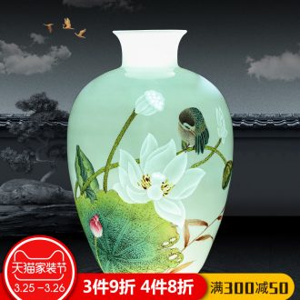 Jingdezhen ceramics antique blue-and-white youligong many children f vases, flower arranging Chinese sitting room adornment is placed