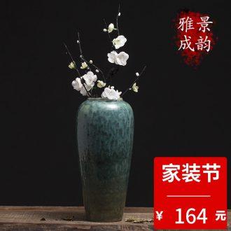 Jingdezhen porcelain enamel colors branch lotus put POTS porcelain decoration decorative furnishing articles wind restoring ancient ways is the sitting room tea table