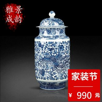 Jingdezhen ceramic canned pea green glaze butterfly general act the role ofing is tasted furnishing articles new Chinese style household porcelain decoration in the sitting room
